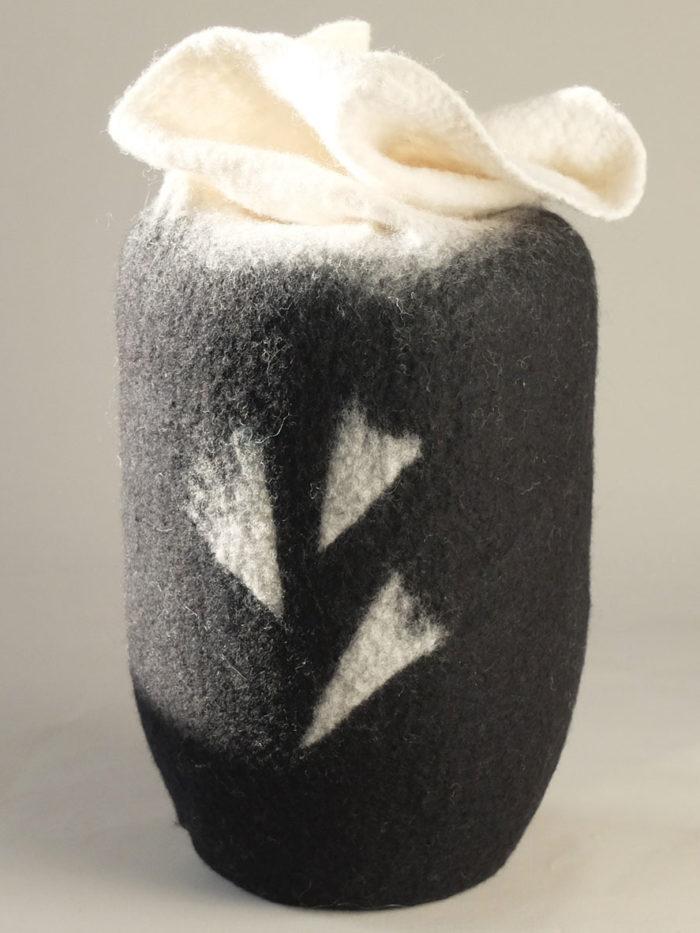 Urne aus Filz Japan