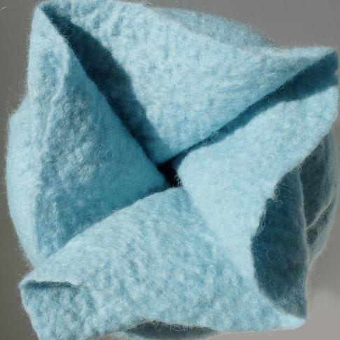 Filzurne Verschluss blau