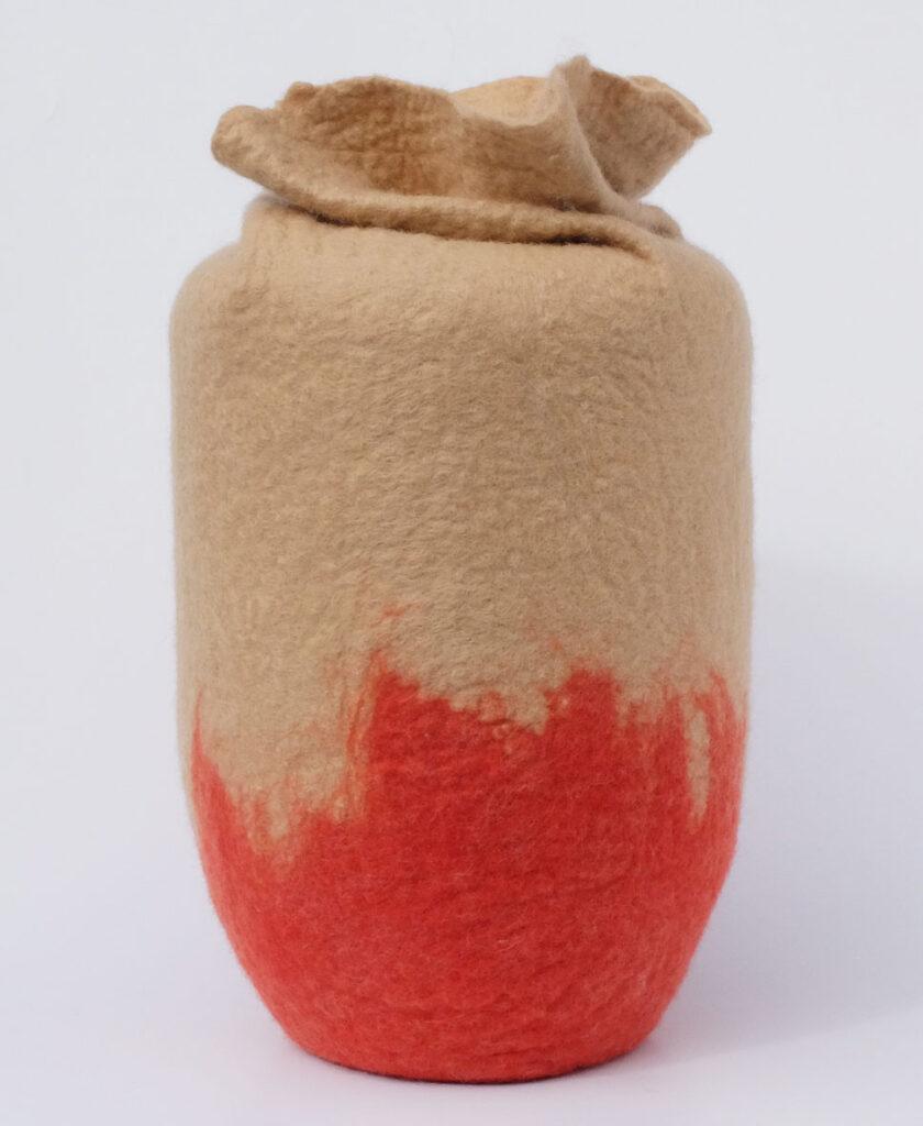 urne aus Filz